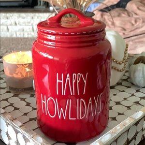 ✨NEW! Rae Dunn 'Happy Howlidays' Canister